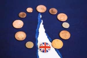 monety i flaga UK