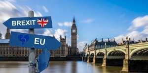 Drogowskaz Brexit na tle Big Bena