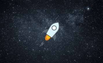 Logo Stellar na tle kosmosu