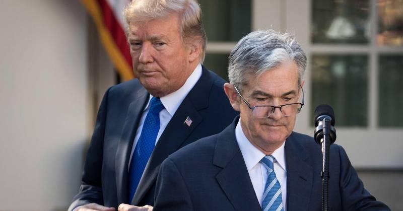 Donald Trump i Jerome Powell (Fed)