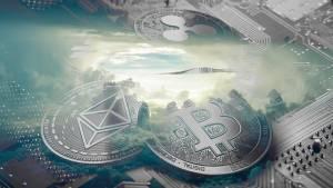 Kryptowaluty Bitcoin, Ethereum, Ripple