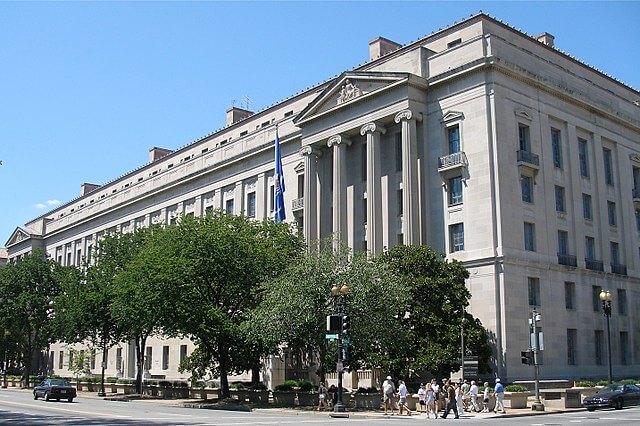 Siedziba Departamentu Sprawiedliwości Stanów Zjednoczonych. US Department of Justice