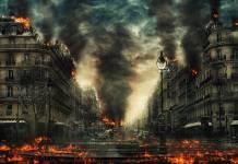 płonące miasto