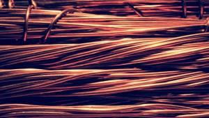 miedź, miedziane druty, copper