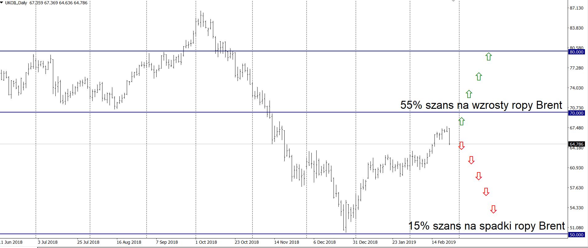 Citibank: Prognozy dla ropy Brent wzrosły do 64 USD/brk. w 2019 r.