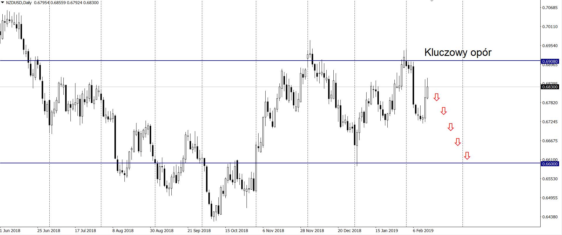 Wzrosty pary NZD/USD ograniczone przez poziom 0,6900 - Westpac