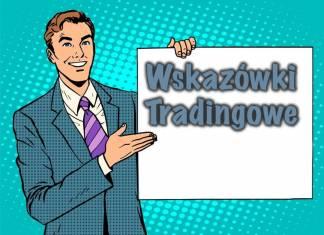 Napis wskazówki tradingowe na białej talblicy