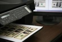 drukarka, pieniądze