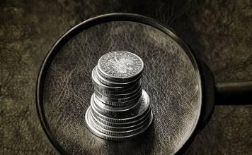 prowizja, pieniądz, money, lupa, złoty