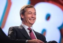 Nigel Farage z Brexit Party