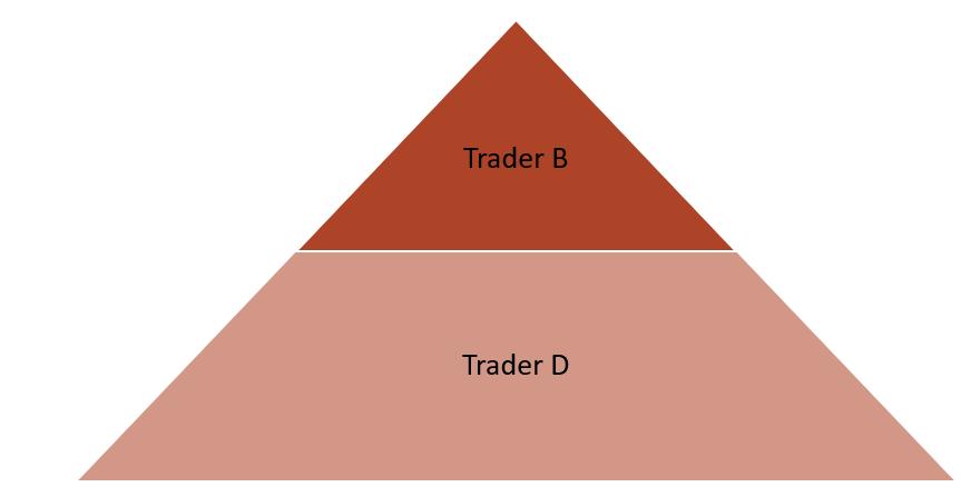 Rys. 1 Piramida obrazująca dwa rodzaje percepcji.