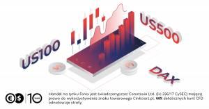 DAX i S&P 500 bez prowizji w Cinkciarz.pl na rachunku Conotoxia