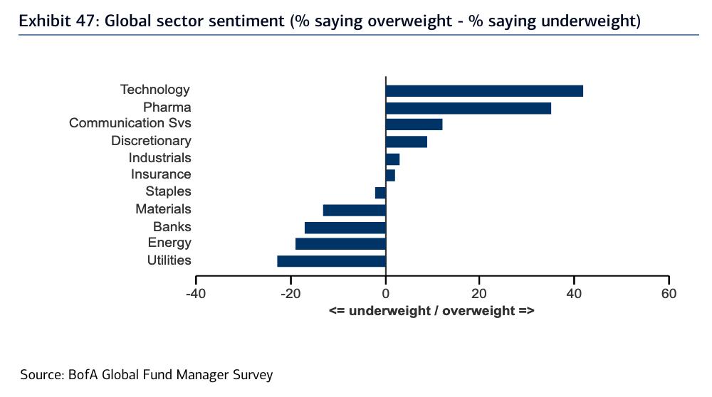 Menedżerzy funduszy w USA preferują spółki technologiczne, jednak sądzą, że ulica już je zdominowała