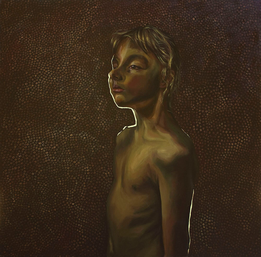 """Sylwia Brzyszczyk """"Dzień 58"""", 120x120 cm, olej/płótno, 2020"""