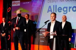 Allegro rozbiło bank z 4 mld zł obrotu. Zastąpi mBank w indeksie WIG20
