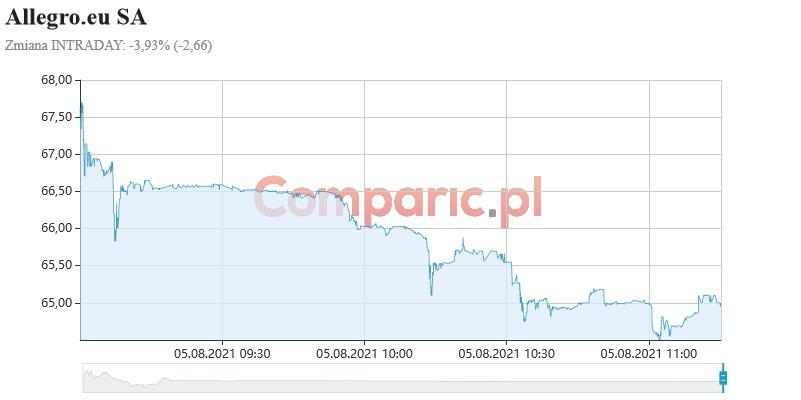 Allegro traci ponad 2,5%. Spółka tnie planowane wydatki inwestycyjne o nawet 100 mln złotych!