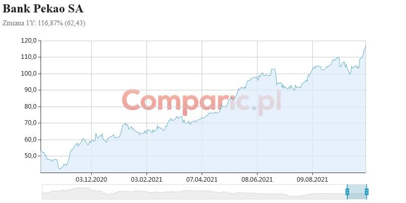 Pekao SA w górę po decyzji RPP. Bank otworzył się z luką wzrostową